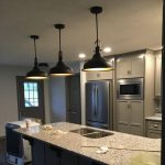 black-metal-kitchen-pendant-lights