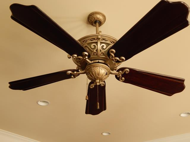 metal-wood-five-blade-ceiling-fan