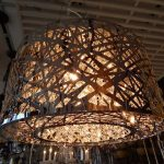 modern-aluminum-glass-basket-chandelier