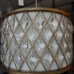 round-crystal-metal-shade-pendant-light