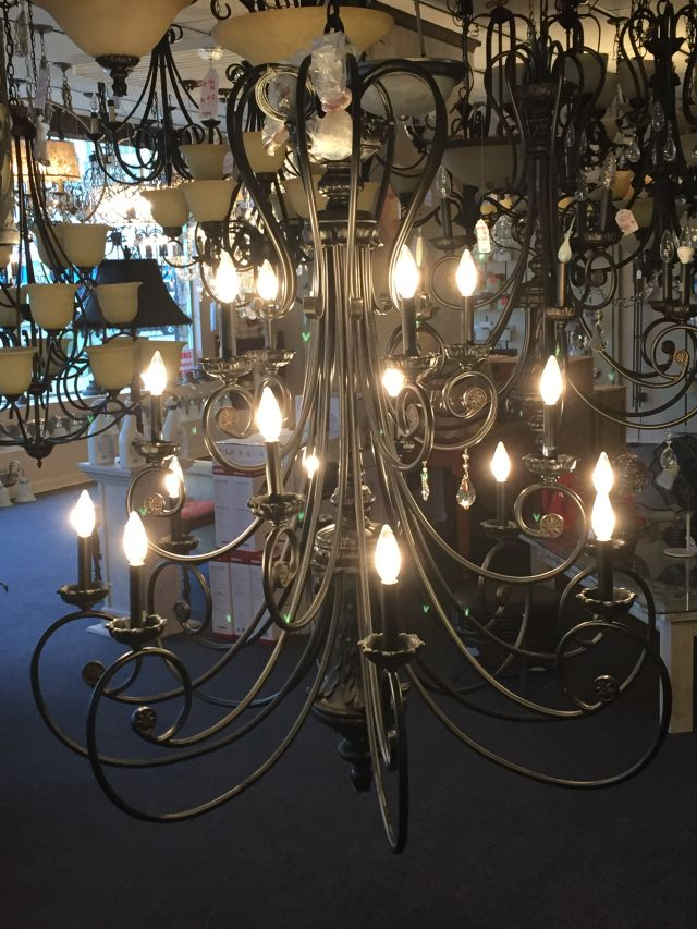 three-teir-candle-style-iron-chandelier